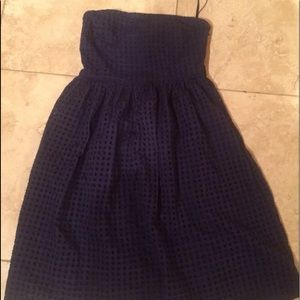 Blue old navy eyelet strapless dress